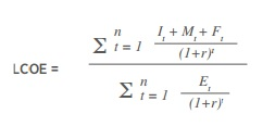 lcoe-formula